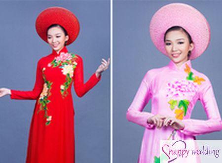 4 kiểu áo dài cưới truyền thống cho cô dâu