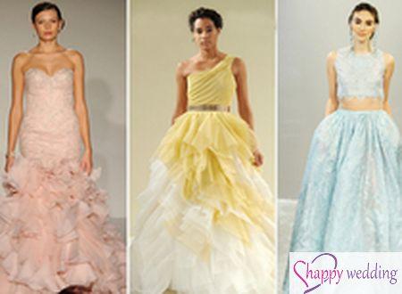9 màu váy cưới hiện đại đẹp ấn tượng