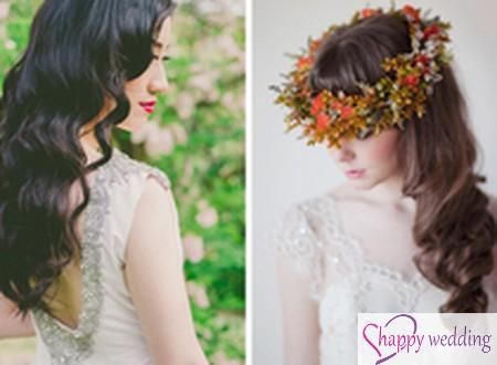 Kết hợp phụ kiện và kiểu tóc cho cô dâu mùa thu