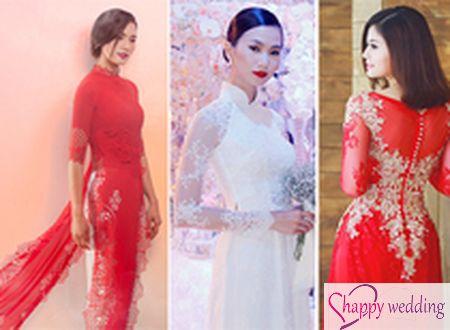 Lưu ý khi cô dâu chọn may áo dài cưới đẹp