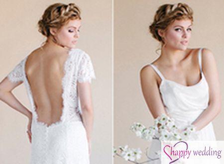 Phá cách với váy cưới hở lưng gợi cảm