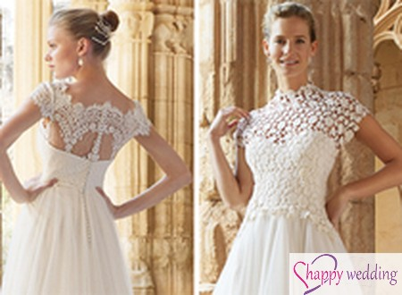 Váy cưới ren dành cho cô dâu người gầy
