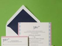 Thiệp cưới đẹp màu xanh lá kết hợp các gam màu pastel