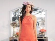 Áo cưới màu cam ngắn hở tay  - Marry