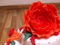 Bánh cưới màu cam trang trí lạ mắt - Marry