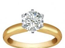Nhẫn cưới đính đá cổ điển - Marry