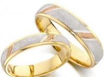 Nhẫn cưới pha trộn ánh nhũ  - Marry