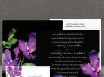 Thiệp cưới đẹp màu đen in hoa nghệ thuật - Marry