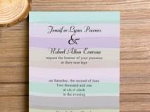 Thiệp cưới đẹp màu tím pastel ngọt ngào - Marry