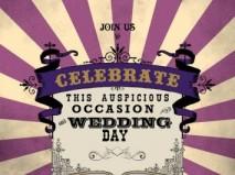 Thiệp cưới đẹp màu tím phong cách vintage - Marry
