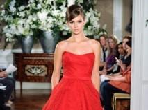 Váy cưới ngắn màu đỏ vintage - Marry
