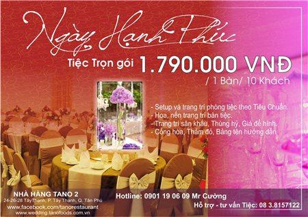 Ngày Hạnh Phúc -Tiệc cưới ưu đãi nhất trong năm chỉ với 1.590.000 VNĐ/1 bàn/ 10 khách