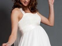 Váy cưới ngắn cúp ngực ren cho cô dâu bầu - Marry