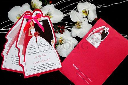 Thiệp cưới đẹp và lãng mạn cho ngày cưới
