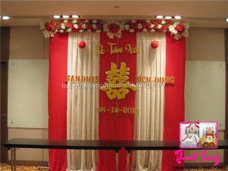 Dịch vụ cưới hỏi trọn gói: Trang trí backdrop đám cưới