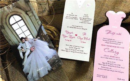Cánh thiệp hồng cho ngày cưới lãng mạn