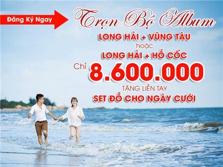 CHỤP ẢNH CƯỚI tại HỒ CỐC-VŨNG TÀU-LONG HẢI chỉ với 8.600.000 VNĐ
