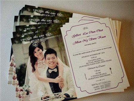RSVP tấm ghi chú cho thiệp cưới..