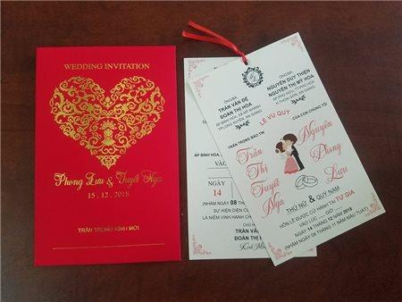 Những lưu ý về thông tin trên thiệp cưới..