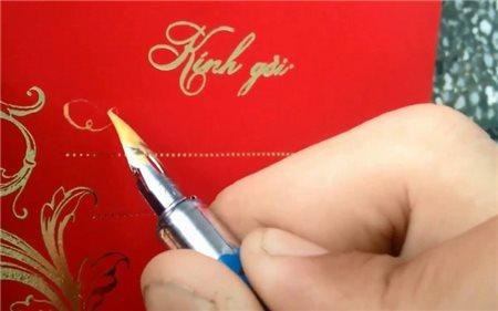 Cách viết thiệp cưới để thể hiện sự trang trọng..