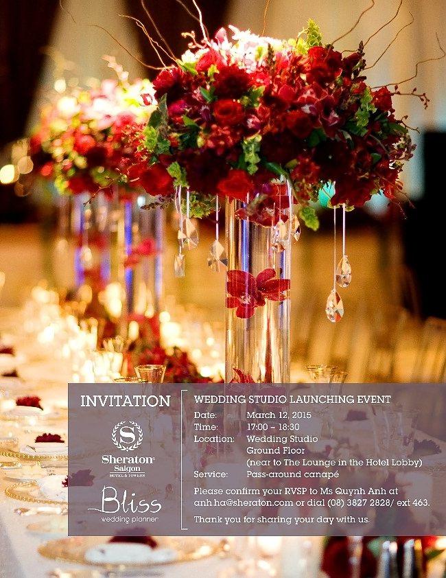 Ra mắt Wedding Studio tại khách sạn Sheraton Saigon