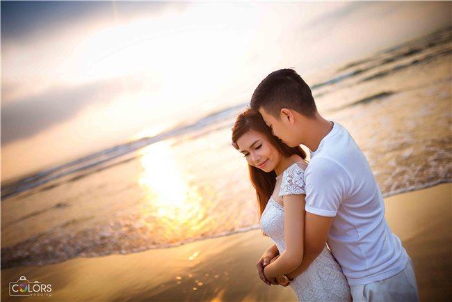 Ảnh cưới bình minh đẹp tại Đà nẵng
