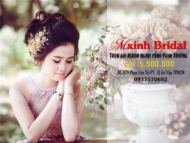 CHỤP ẢNH CƯỚI ĐẸP GIÁ RẺ HCM-  M-XINH Bridal