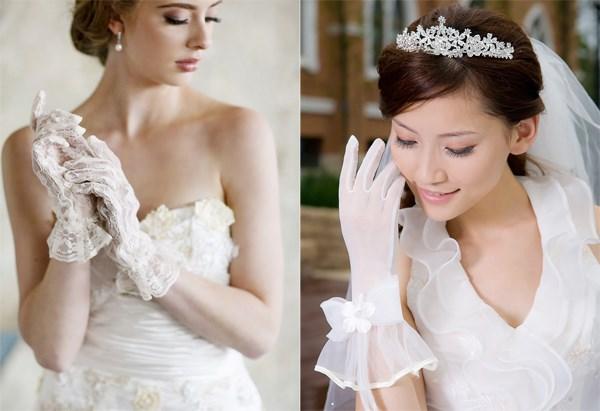 Xu hướng váy cưới đẹp 2021 kết hợp găng tay