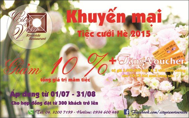 Chương trình khuyến mại tiệc cưới hè 2015