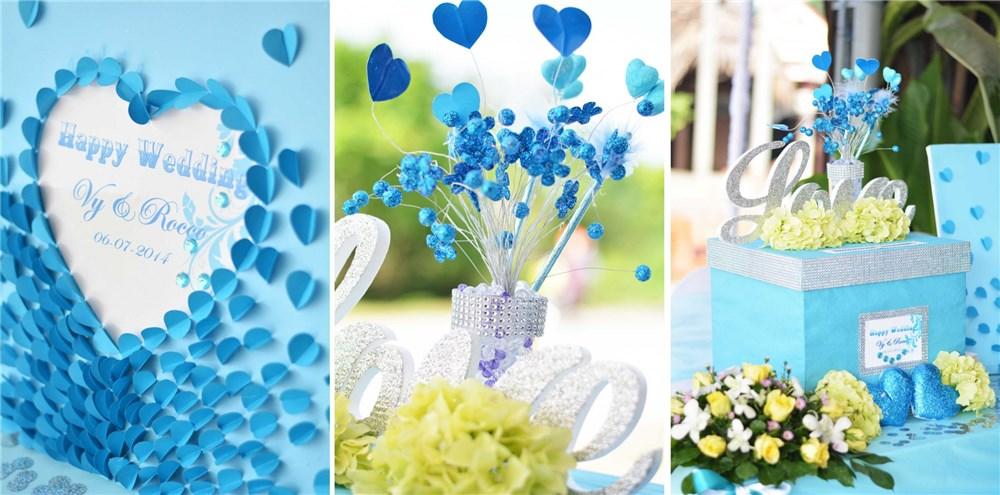 Những màu sắc phổ biến dùng cho trang trí tiệc cưới mùa xuân