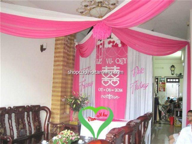 Shop dịch vụ cưới hỏi Tâm Như chuyên trang trí nhà ngày đám cưới