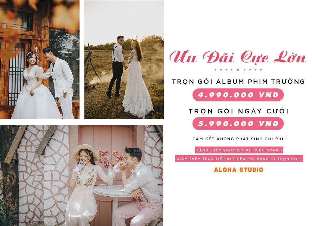 Aloha Studio - Chụp hình cưới đẹp giá rẻ TP HCM