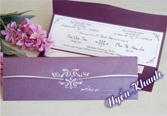 Thiệp cưới Uyển Khanh