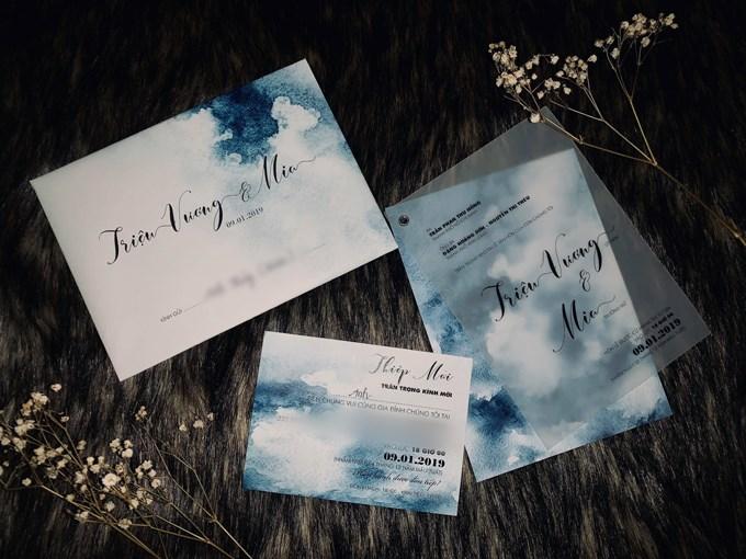Những mẫu thiệp cưới xinh xắn với chiếc ruy băng..