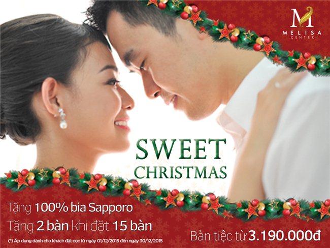 """ƯU ĐÃI  """"SWEET CHRISTMAS"""" TẠI TRUNG TÂM TIỆC CƯỚI HỘI NGHỊ MELISA CENTER"""