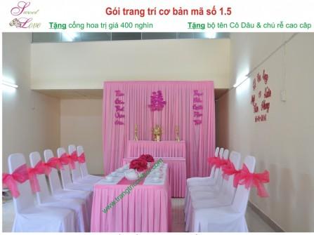 Dịch vụ cưới hỏi DỊCH VỤ TRANG TRÍ CƯỚI HỎI SWEETLOVE