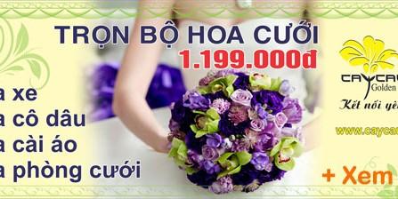 Hoa cưới - Hoa tươi - Hoa sự kiện Cty Cây Cầu Vàng