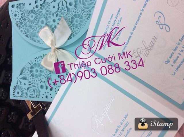 Thiệp cưới MK