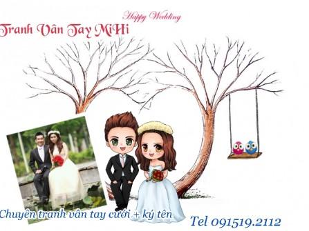 Tranh vân tay cưới MiHi Đẹp Độc Đáo Nhất Hà Nội